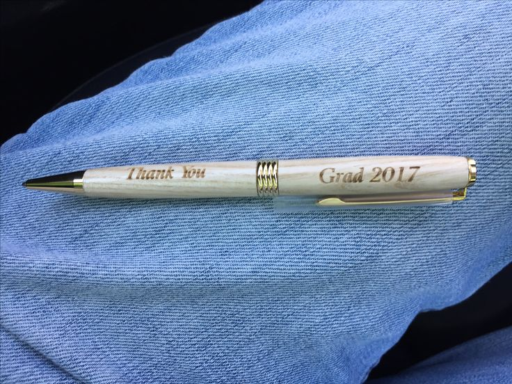 Wooden pens engraved