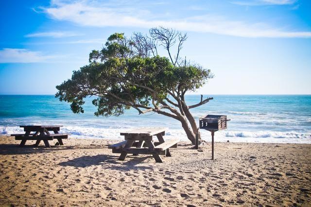 Camping at Crystal Beach, Texas