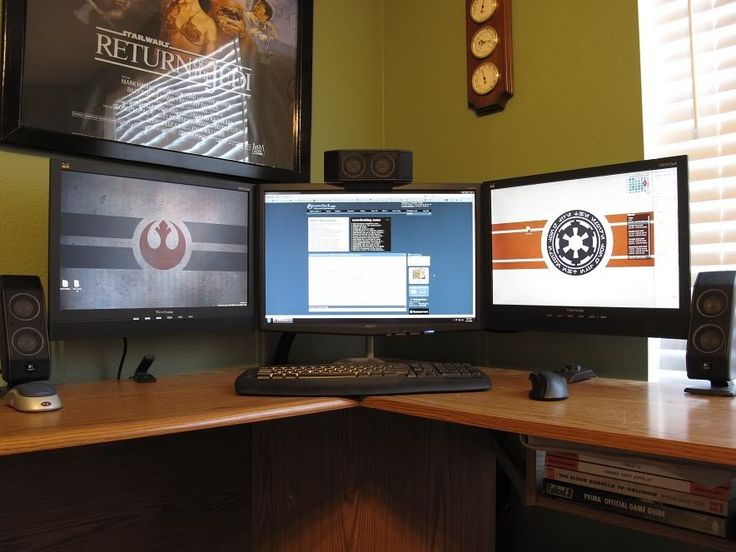 8 best MultiMonitor images on Pinterest Monitor Desk and Cleanses