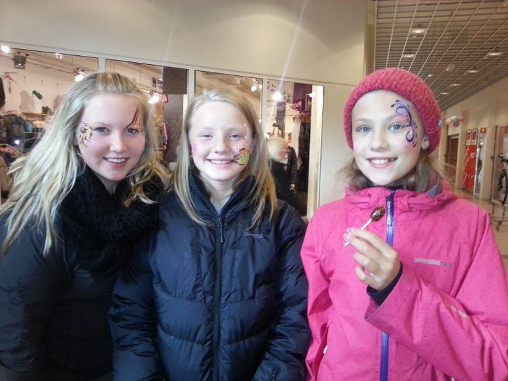 3 jenter på ålgård som ville bli ansiktsmalt:)