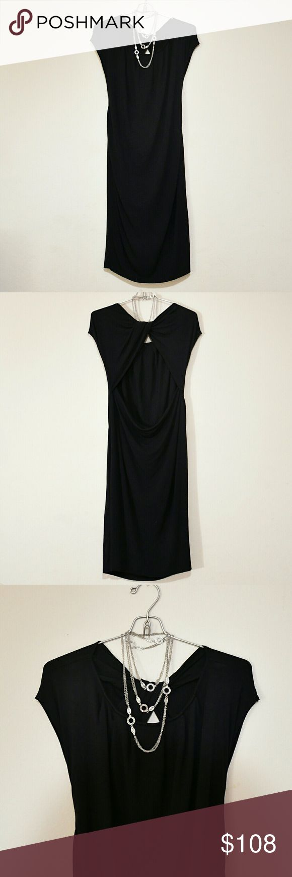 Robert Rodriguez Black Dress ~ S Stunning Robert Rodriguez Black Dress with twisted cut-out back ~ Size Small. Hemline hits just at or below knee Excellent condition (a couple loose threads at shoulder, stitching not affected). This is such a gorgeous piece with a delicately draping silhouette that accentuates in all the right places.   Offers encouraged! Robert Rodriguez Dresses