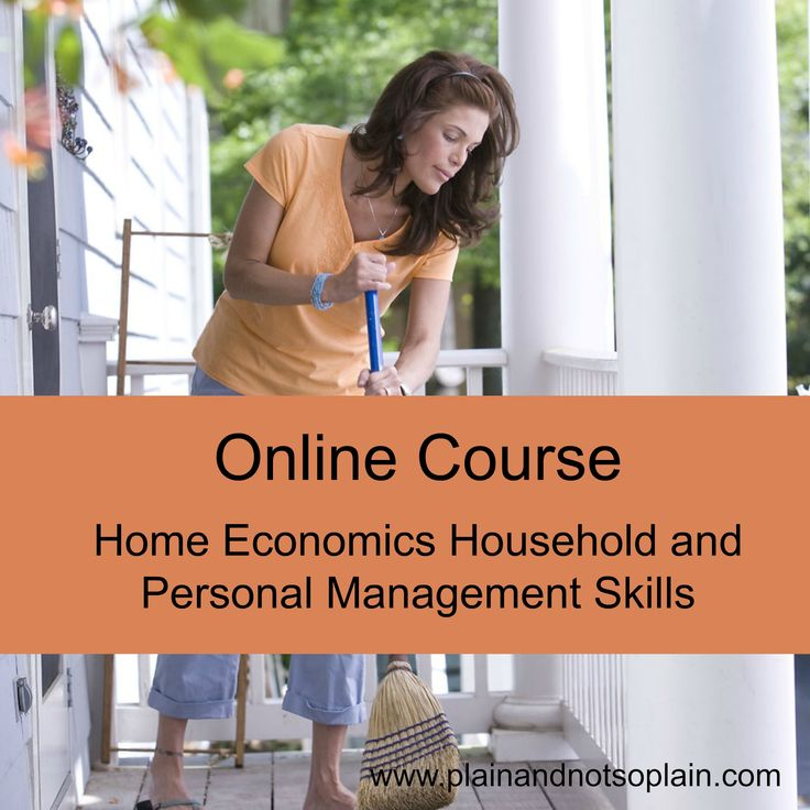 Home economics course for free | More