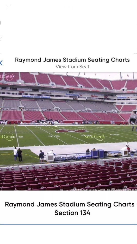 WASHINGTON REDSKINS VS TAMPA BAY BUCCANEERS TICKETS SECT 134 ROW D
