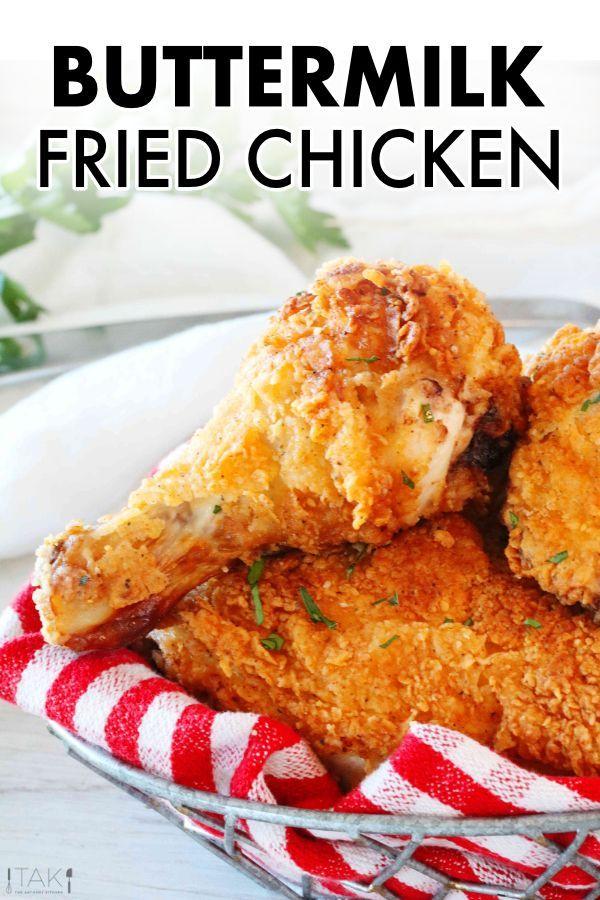 Buttermilk Fried Chicken Recipe Chicken Recipes Food Recipes Buttermilk Fried Chicken