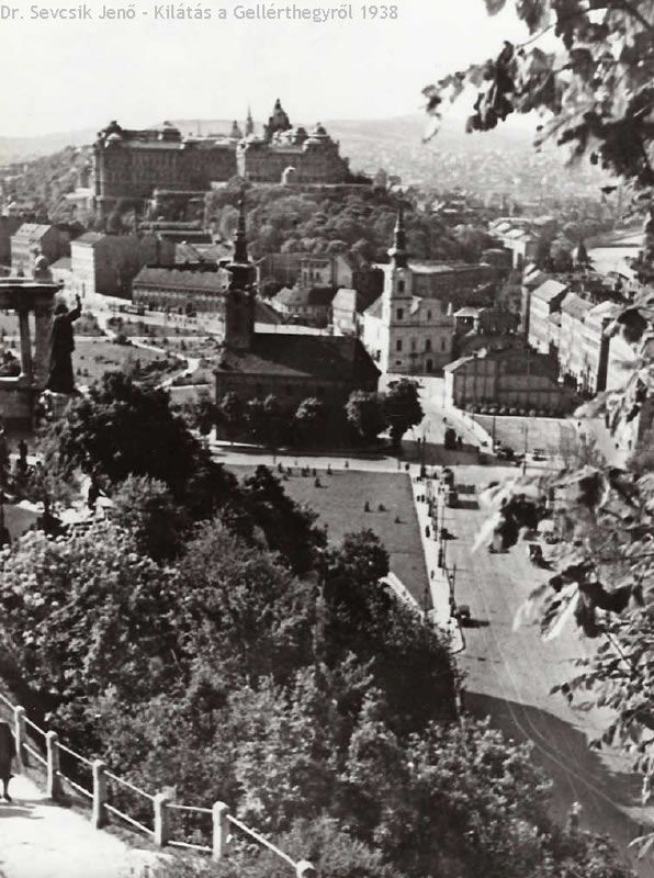 kilátás a gellérthegyről, budapest, 1938