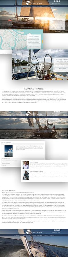 The Whitman Yacht - While creating The Whitman web site, Boost by Design was not only the consummate professional, but also a true pleasure to work with. During the process, any obstacle in their path only became another chance for Byron and his team to shine.  #Design #WebDesign #WebDevelopment #Portfolio #Work #DigitalMarketing #Savannah #ShopSavannah #SEO #Website #WebsiteLayout