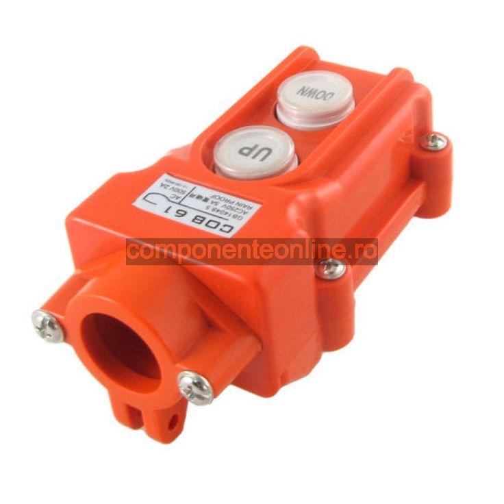 Comutator pe cablu, 2 contacte fara retinere - 125086