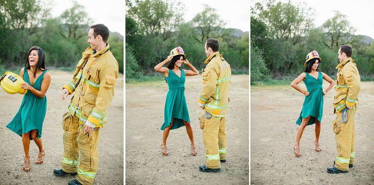 Firefighter Engagement Session: Lauren + Chad