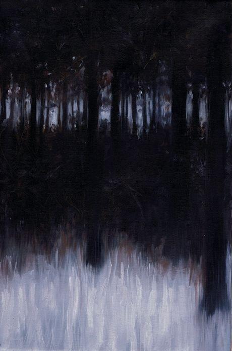 Les arbres enseignent  Oil on canvas 30X20 Vittorio Bustaffa