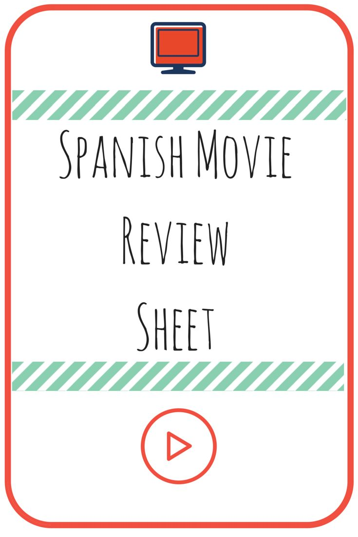 spanish movie review worksheet can use with any movie spanish and activities. Black Bedroom Furniture Sets. Home Design Ideas
