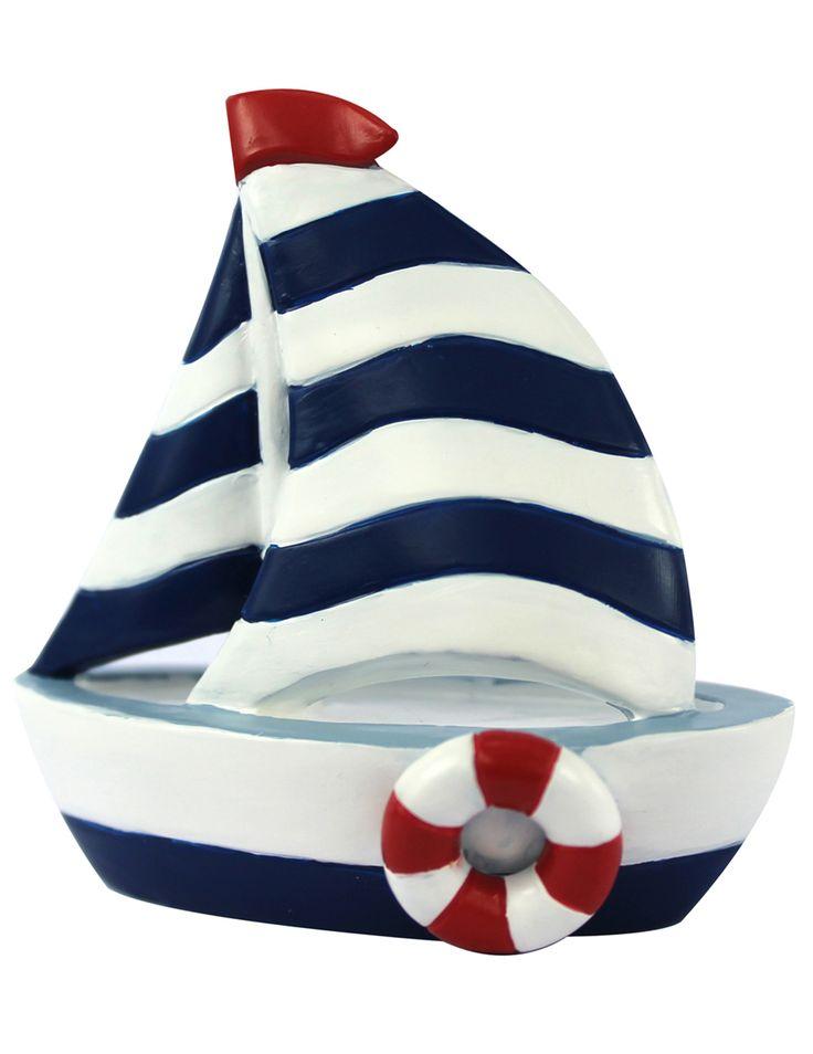 Miniatura in resina di una barca a vela su VegaooParty, negozio di articoli per feste. Scopri il maggior catalogo di addobbi e decorazioni per feste del web,  sempre al miglior prezzo!