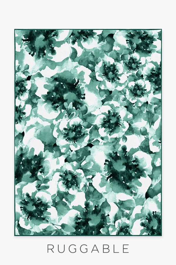 Our Buttercup Blush Rug Is Decorated With A Watercolor Floral