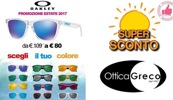 SUPER SCONTO Occhiali Da Sole Oakley Da Ottica Greco http://affariok.blogspot.it/
