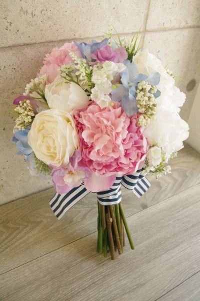 ミックスカラーのナチュラルブーケ♡ハワイフォトウェディングの花嫁様へ の画像|アートフラワーウェディング greenplus