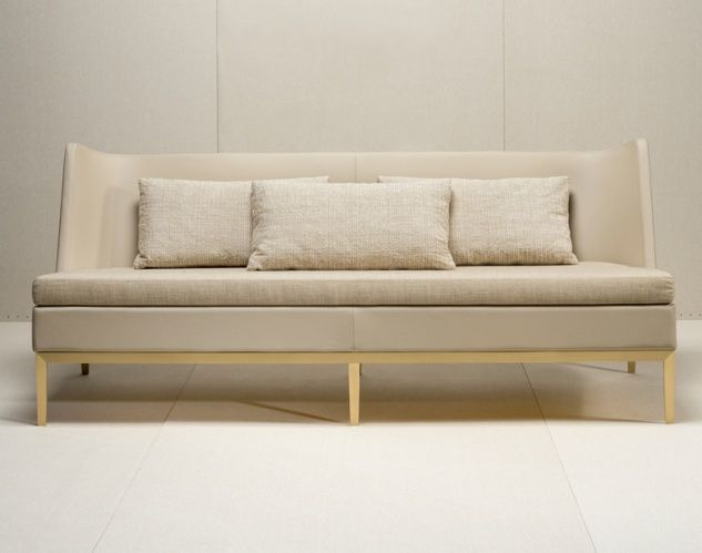 Base, Brass Stained And Varnish. Leather Covered Structure. Seat Cushionsu2026 Furniture  UpholsterySeat ...