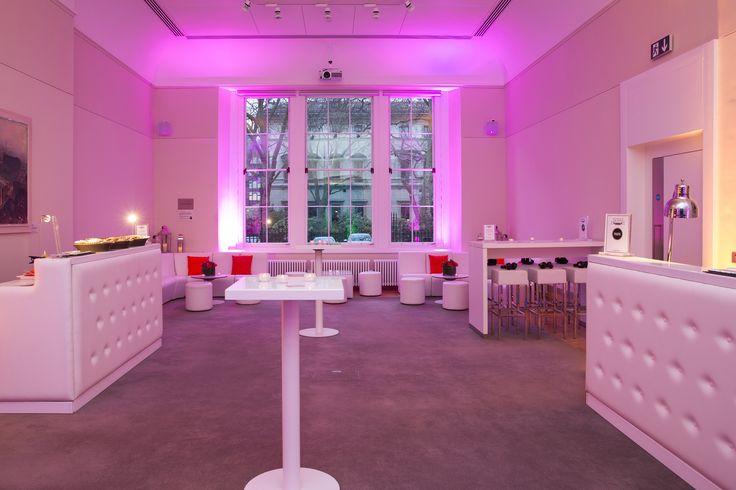 White padded bar and poseur tables #Princephiliphouse #loungearea #weddingdecor #weddingfurniture #eventprofs #furniturehire #loungefurniture #eventcatering #whitebar