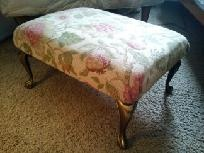 Reupholstered Footstool