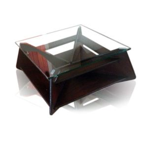 glass-topped custom wooden (MDF) varnished table by Woodby. Call 082 563 4098 or follow link for more info.