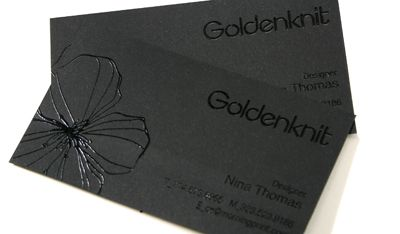 MorningPrint - Black paper business cards with black raised ink - Best Price in fast.