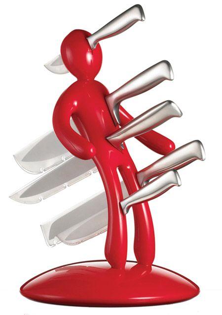 Body-shaped knife holder