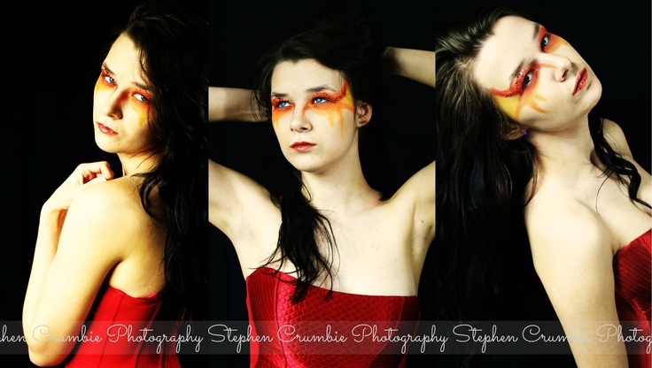 Portraying Fire. #fire #makeup #portrait #model #photography