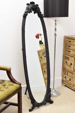 Ornate cheval full length mirror