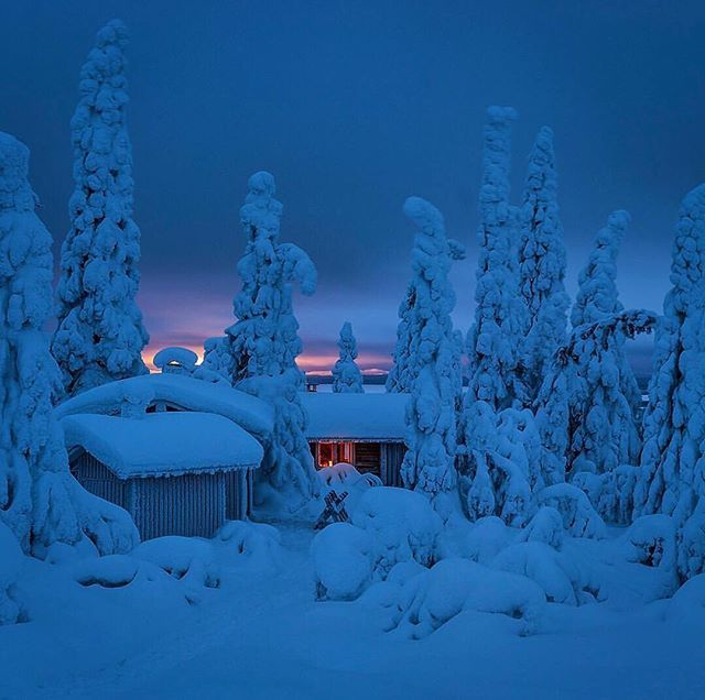 Winter in Kuusamo, Finland. Photocredit @samisaily