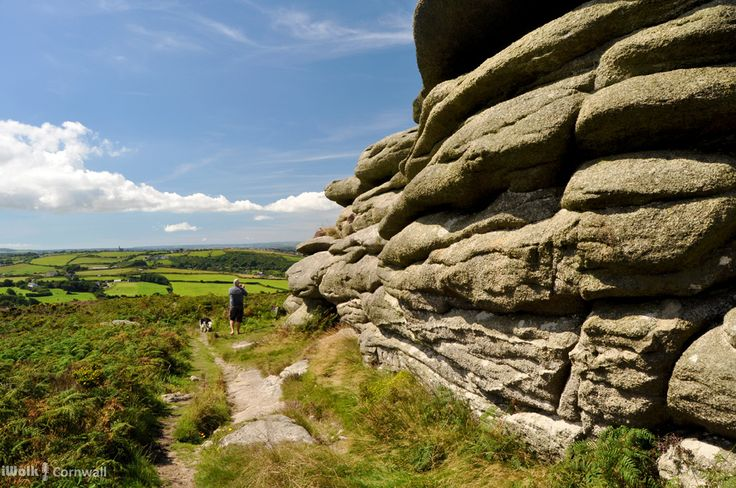 Descent from Carn Brea, Cornwall