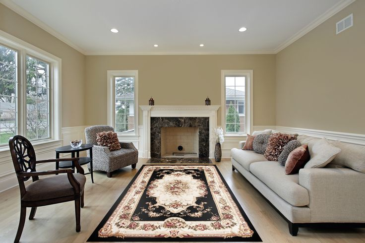 Black Floral Traditional|Area Rugs Sale|Discount Rugs - Bargain Area Rugs