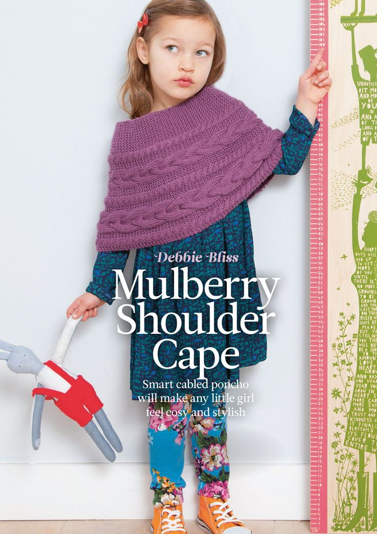 Mulberry Shoulder Cape by Debbie Bliss. Read more about it on my blog: http://knittingkonrad.com/2014/09/16/the-knitter-issue-76-a-review/