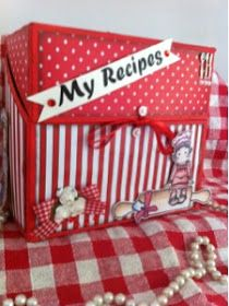 Recipe box (from ice cream's box) with free printable recipe cards