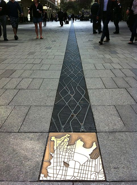 Grate Design at Pitt Street Mall in Sydney
