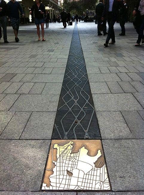 Grate Design at Pitt Street Mall in Sydney