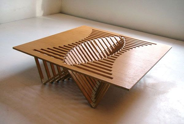 Wooden Table Ventilated Surface - Intriguing Creative Design – A Flexible Wooden Table