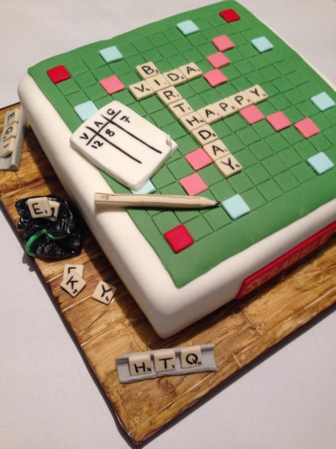 Scrabble Cake Cake By Domino Cakes Cakes Pinterest