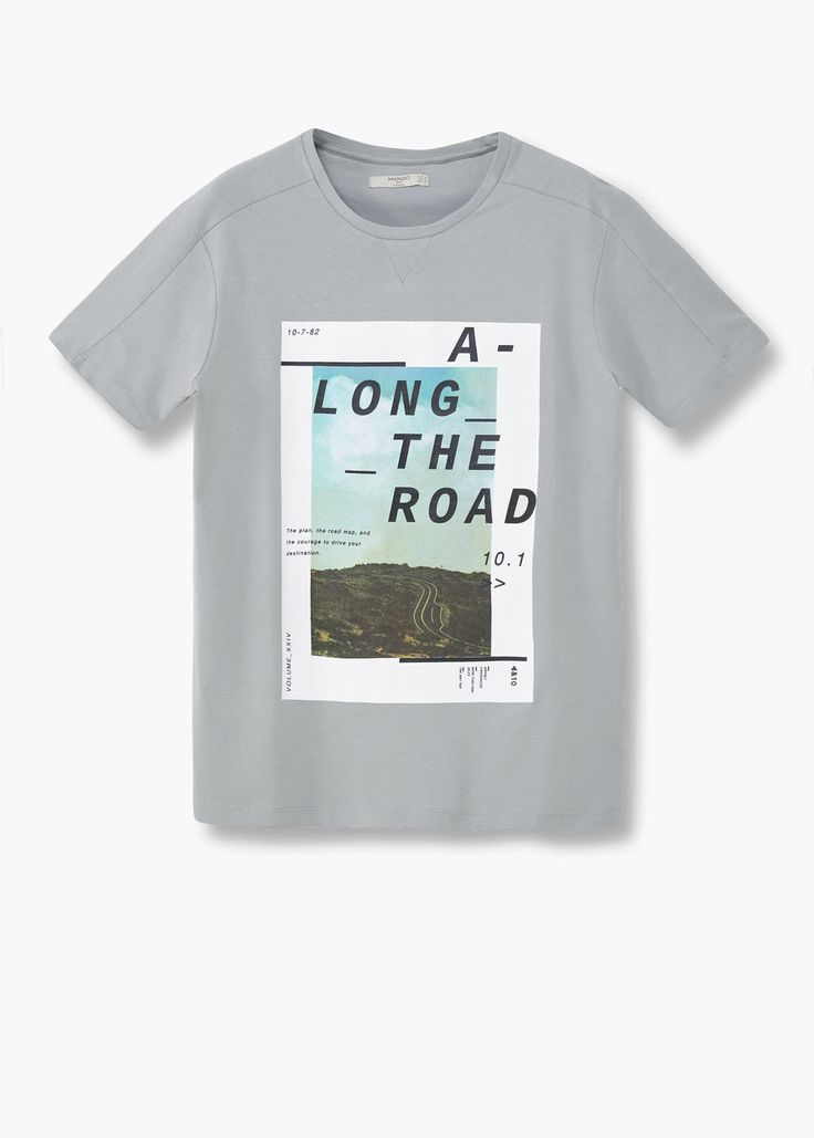 T-shirt imagem estampada   MANGO MAN