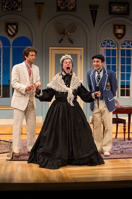 """Photos of the Utah Shakespeare Festival's 2015 production of """"Charley's Aunt."""" (Photo by Karl Hugh. Copyright 2015 Utah Shakespeare Festival.) @utahshakespeare, #charleysaunt, www.bard.org"""