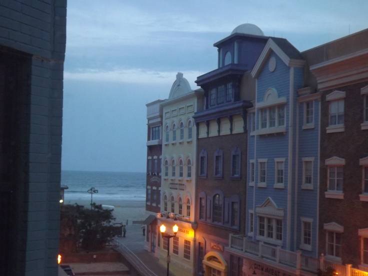 Our beautiful view of Atlantic City from our holtel room.