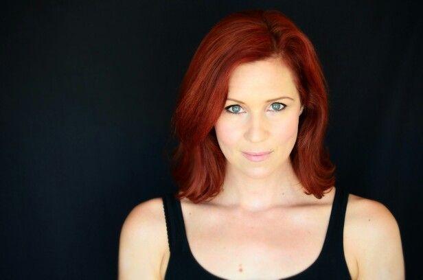 Fiery redhead head shot MUA {The Makeup Gypsy}