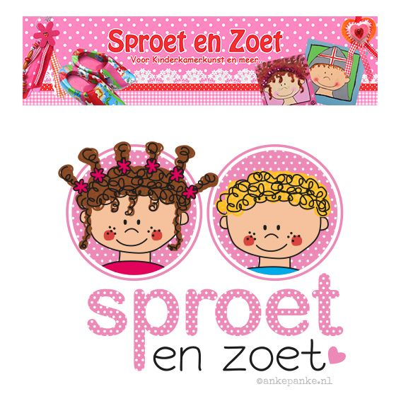 Logo restyling for Sproet & Zoet (handmade products webshop) by http://ankepanke.nl