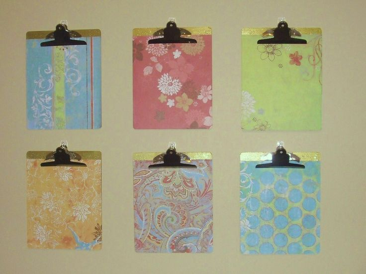 Easy office DIY - cover dollar store clipboards with scrap paper