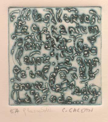 "Claude #Gagean ""S/T"", 1995. Aguatinta sobre Metal de 10x9 cm., Papel Arches de 250 gr de medidas 33x25 cm. Ej.: 15 #art #etching"