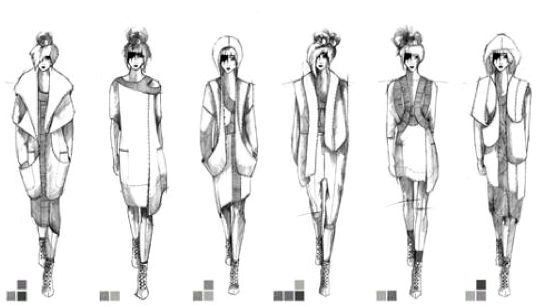 Fashion Sketchbook - fashion design illustrations; lineup drawings; fashion portfolio // Rosa Pietsch