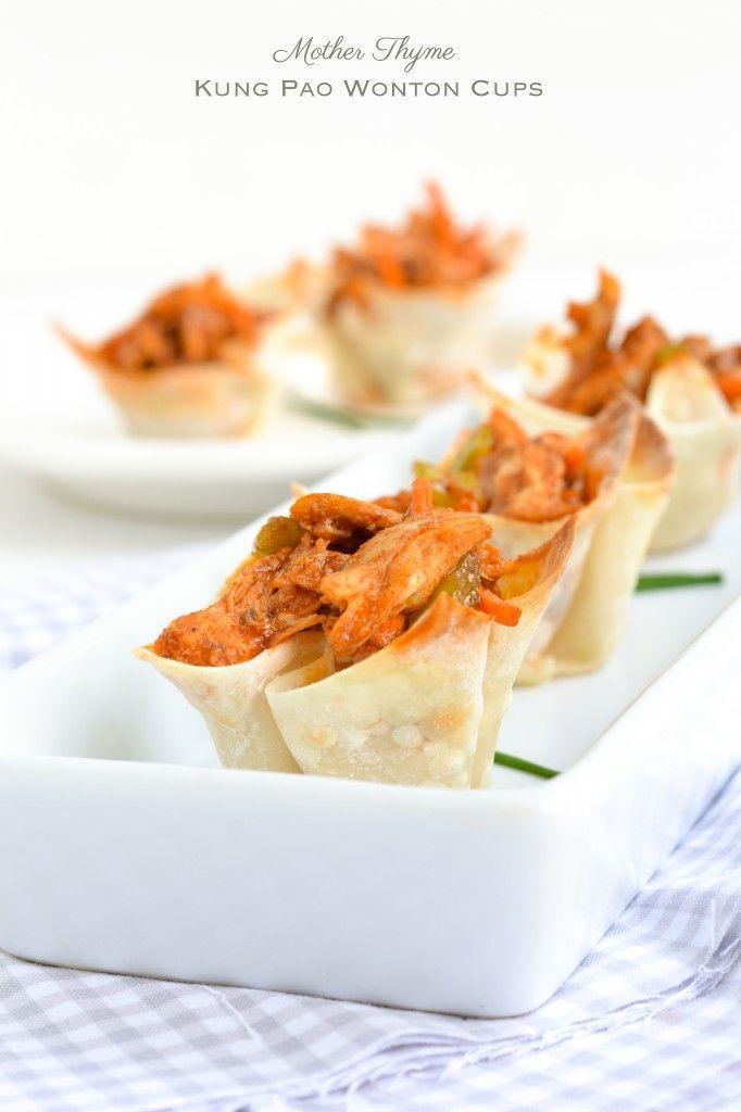 Kung Pao Wonton Cups. | Pierogi, Dumplings, Momo, Gyoza, Wonton And P ...