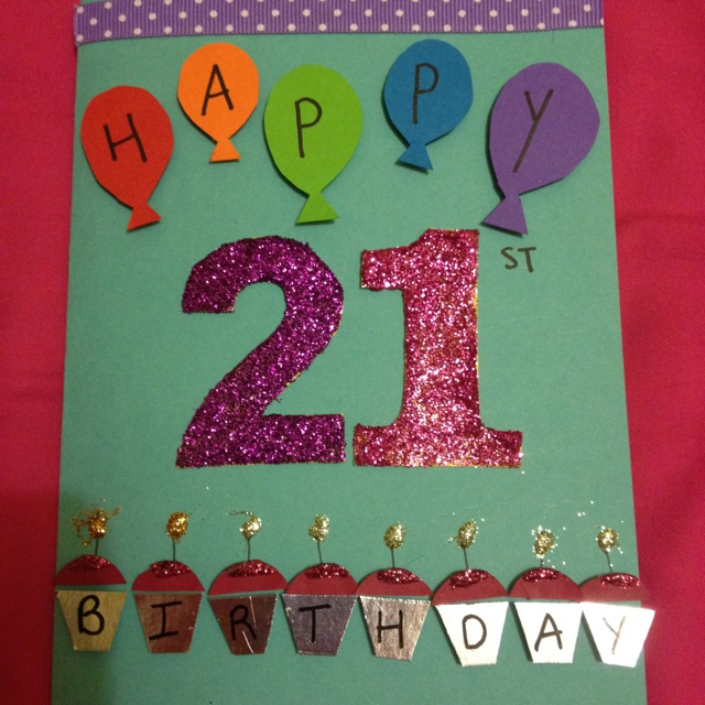 68 best homemade cards images on pinterest birthdays invitations the 21st birthday card i made my best friend bookmarktalkfo Image collections