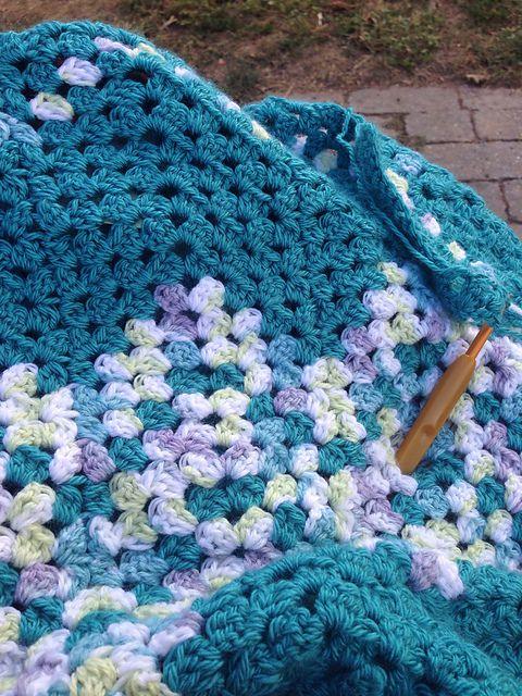 Ripple Waves Baby Blanket Crochet Pattern #crochetideas #crochetlove #crochethooks