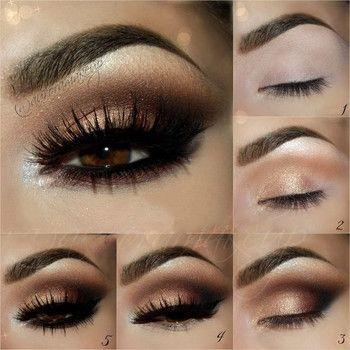 maquillaje de ojos para vestido rojo quinceañera