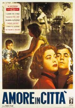 """L'AMORE IN CITTA - """"Agenzia matrimoniale, Un'"""" (1953) ~ Antonio Cifariello, Livia Venturini, Maresa Gallo. Director:  Federico Fellini. IMDB: 6.6 ________________________ https://en.wikipedia.org/wiki/Love_in_the_City_%281953_film%29"""