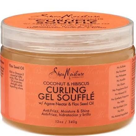 Specifically developed for thick, curly hair, Shea Moisture's Coconut & Hibiscus Curling Gel Soufflé utilises natural and certified organic ingredients