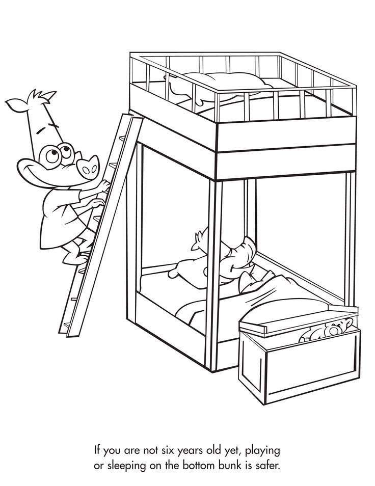 coloring pages of beds - photo#35